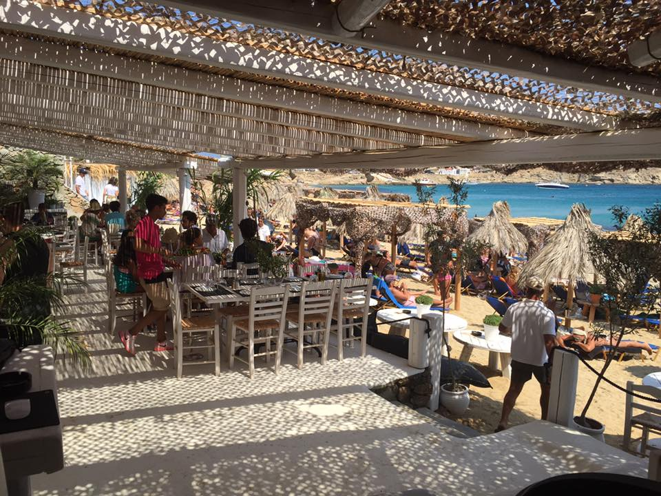 Kalafatis beach bar and parties in mykonos