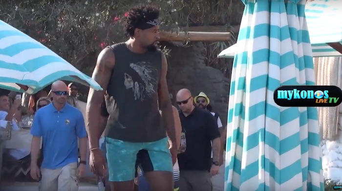 US basketball team in mykonos