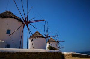 greece windmills